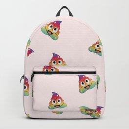 Rainbow unicorn poop. Magical fairy pile of poop Backpack