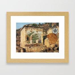 Spatial Collapse Framed Art Print