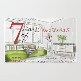 SEVENTH DAY OF CHRISTMAS WEIMS Rug