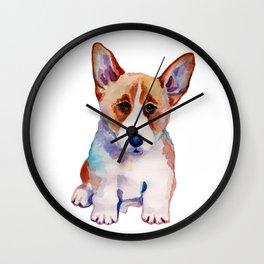 Corgi puppy Wall Clock