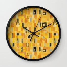 Klimt Pattern Wall Clock