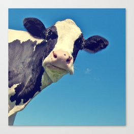 Country Life | Say Hello to Mrs. Cow Canvas Print