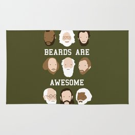 Beards Are Awesome Rug