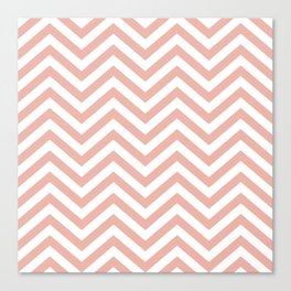 Chevron Coral  - Lovely Sping Color Pattern -  01 Mix & Match Canvas Print