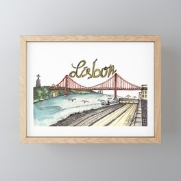 Lisbon Framed Mini Art Print