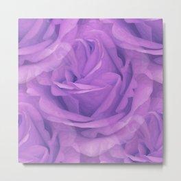 Seamless Purple Rose Vector Metal Print