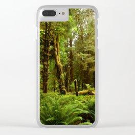Hoh Rainforest Clear iPhone Case
