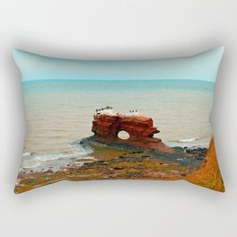 Unique Sandstone  Formation and the Birds Rectangular Pillow
