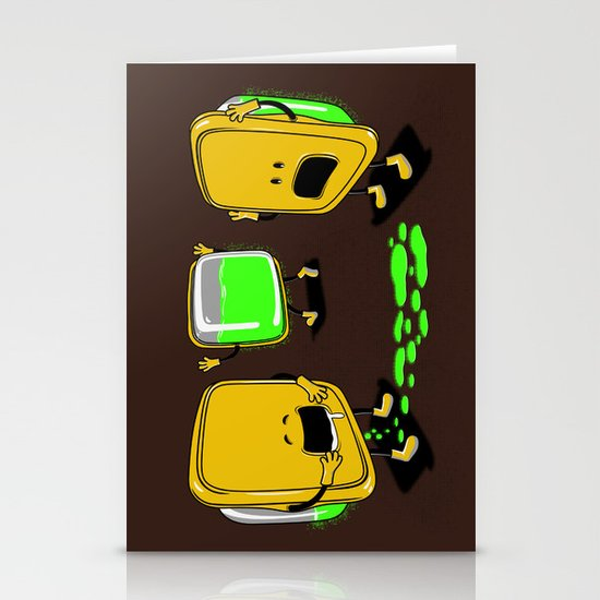 Radioactive Tupper Stationery Cards
