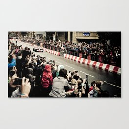 Jenson Button in Manchester Canvas Print