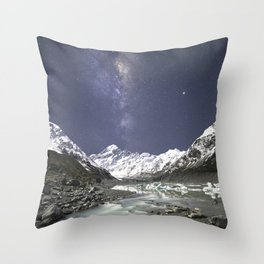 Starry Nights in Mt Cook, New Zealand Throw Pillow