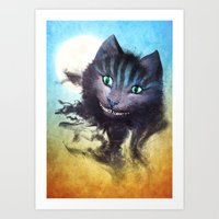 cheshire cat Art Prints featuring Cheshire Cat by Diogo Verissimo