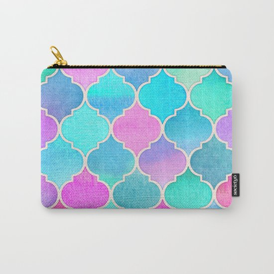 Bright Moroccan Morning - pretty pastel color pattern Carry-All Pouch