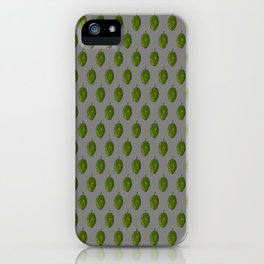 Hops Gray Pattern iPhone Case