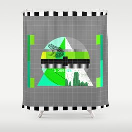 Waiting for the show to begin (Test Pattern 3) Shower Curtain