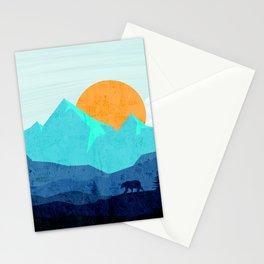 Wild mountain sunset landscape Stationery Cards