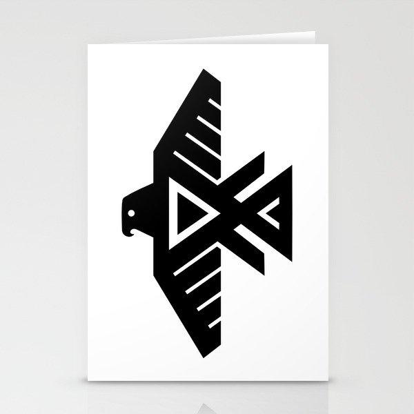 Native American Thunderbird Symbol Flag Stationery Cards By