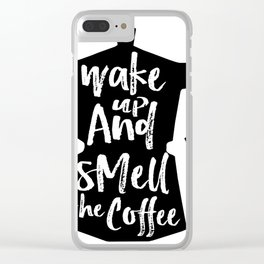 Coffee Art, Coffee Printable, Coffee Print, Digital Print, Kitchen Art, Coffee Art Print, Coffee Quo Clear iPhone Case
