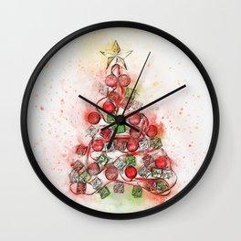 O'Christmas Tree of Lights Wall Clock