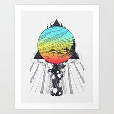 Filtering Reality Art Print