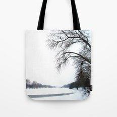 frozen lake. Tote Bag