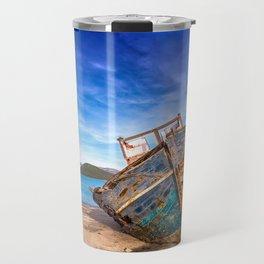 Washed up Boat Travel Mug