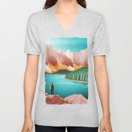 DREAM VACATION / Alberta, Canada Unisex V-Neck