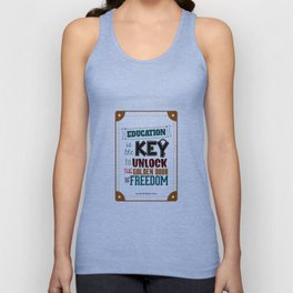 Lab No.4 - Education Is The Key To Unlock - George Washington Carver Inspirational Quotes poster Unisex Tank Top