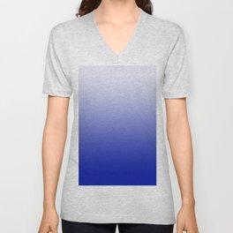 Ombre Zaffre Blue Unisex V-Neck