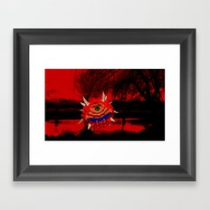 Caco-Demon in nature Framed Art Print