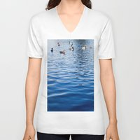 ducks V-neck T-shirts featuring Ducks by Ali Bee