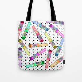 Retro 80's 90's Neon Colorful Push Candy Pop Tote Bag