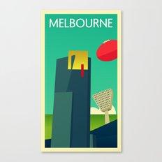 Melbourne - Vintage Retro Canvas Print