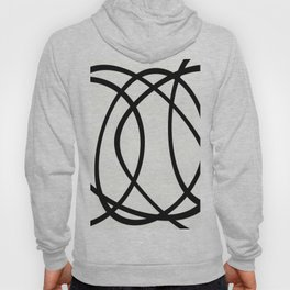 Community - Black and white abstract Hoody