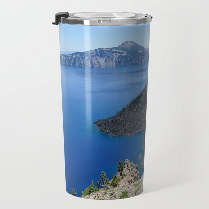 Crater Lake Volcanic Crater Oregon USA Travel Mug