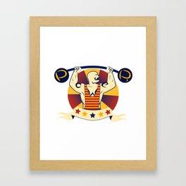 Power Strongman Framed Art Print