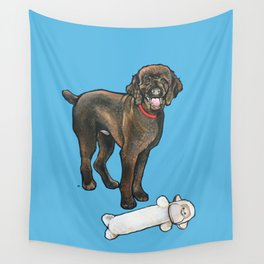 Milo the Poodle with his Monkey Wall Tapestry