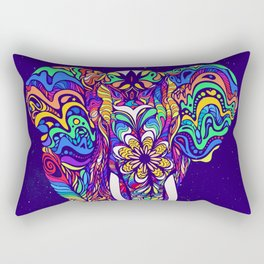 Not a circus elephant #violet by #Bizzartino Rectangular Pillow