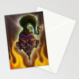 Rebel Shrunken Head Stationery Cards
