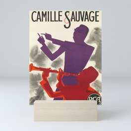 retro plakat camille & sauvage. 1954 Mini Art Print