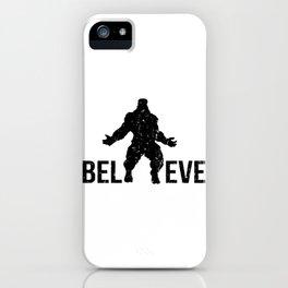 Bigfoot Believe Vintage Distressed iPhone Case