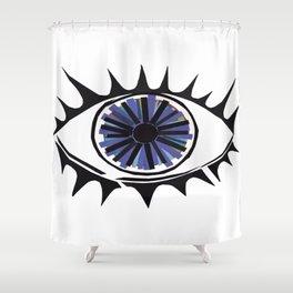 Blue Eye Warding Off Evil Shower Curtain