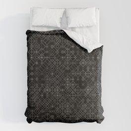 Black and White Overlap 1 Duvet Cover