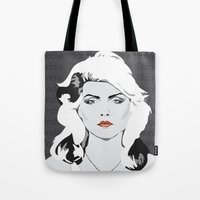 blondie Tote Bags featuring blondie by Tara Durrant Designs