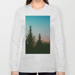 TREES - SUNSET - SUNRISE - SKY - COLOR - FOREST - PHOTOGRAPHY Long Sleeve T-shirt