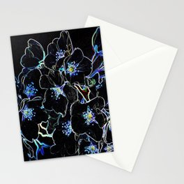 FLOWERS AT MIDNIGHT Stationery Cards