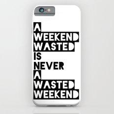A Weekend Water (Black) iPhone 6s Slim Case