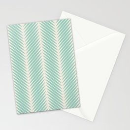 Palm Symmetry - Teal Stationery Cards
