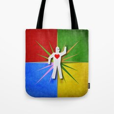 Here is My Heart Tote Bag