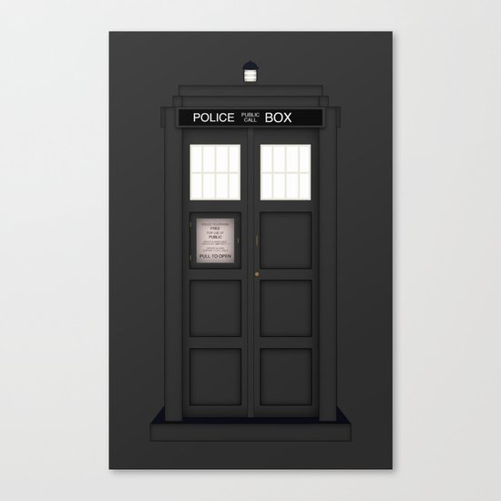 It's The Tardis!!!! (Variant) Canvas Print